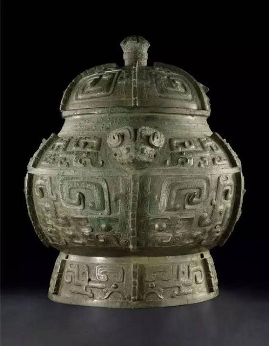 商晚期青铜饕餮纹瓿