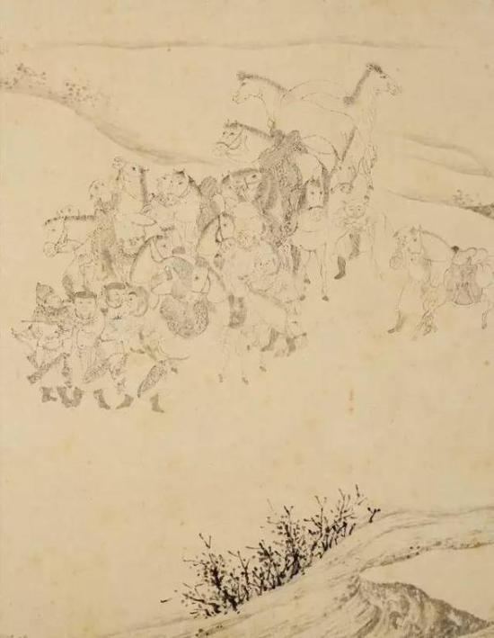 《石渠宝笈 》记载为李公麟(上等)的 便桥会盟图