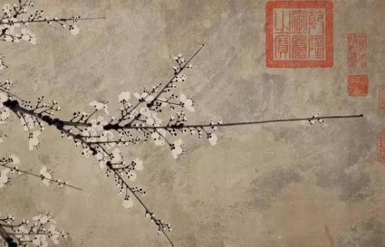 《石渠宝笈》记载为王冕(上等) 雪梅图