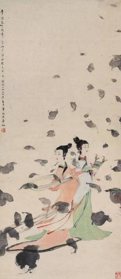 傅抱石1954年作二湘图设色纸本