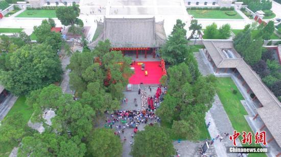 资料图 陕西黄帝陵举行华夏汉风仪礼展演。 高庆国 摄