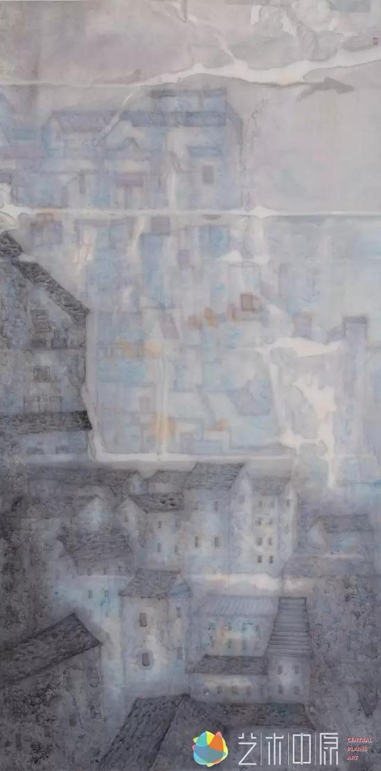 蓝调系列―释放 136cm×68cm 2016年