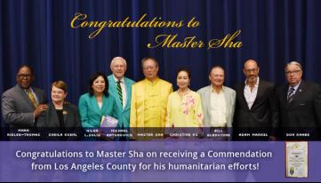 2016年获洛杉矶郡长(包括88个城市)表彰奖