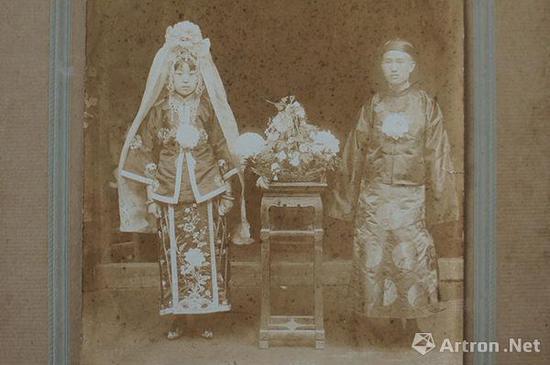 结婚纪念摄影。昆明二我轩照相馆,1925年