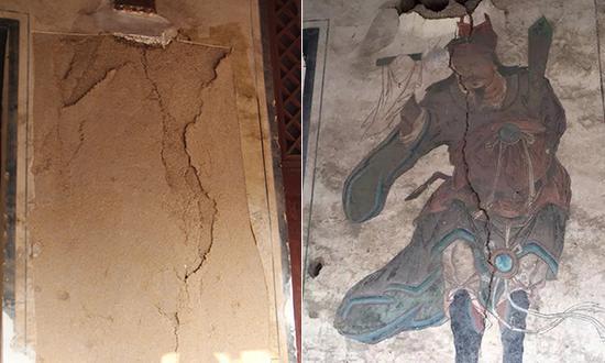 山西龙天庙数百壁画遭盗割案破