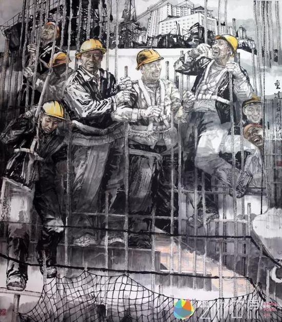 《重建》十一届全国美展 210×180cm.2008