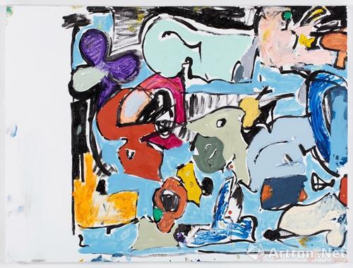 艾迪·马丁内斯的作品《无题》已售出,售价2.5万美金。 (版权由艺术家所有,图片由画廊提供)