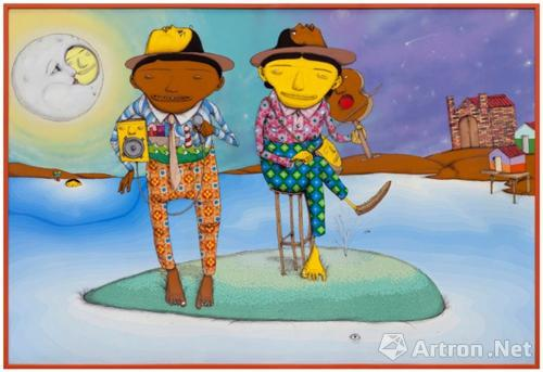 巴西双胞胎艺术家OSGEMEOS作品《O Canto da Baleia (The Whale Singing)》