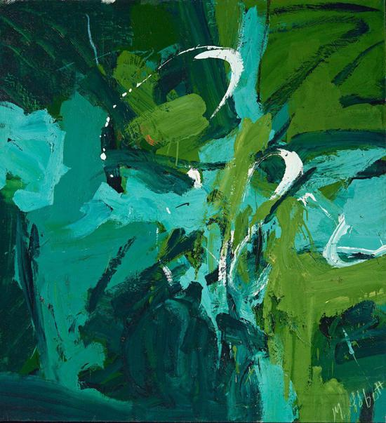 玛丽·艾伯特,《全绿》(All Green,1954)。</p>