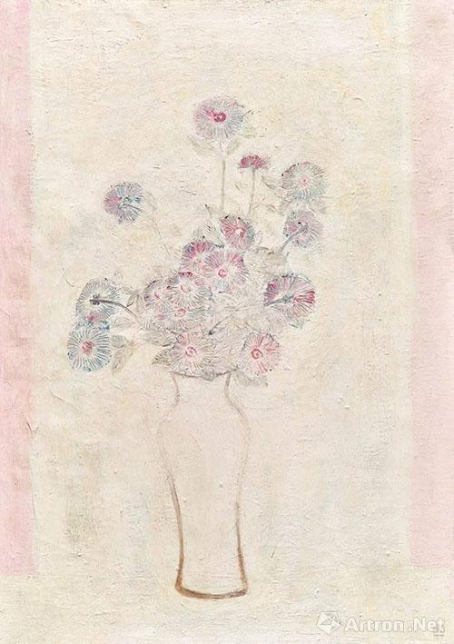 最爱的常玉《白瓶粉红菊》出现在保利香港2017年春拍中