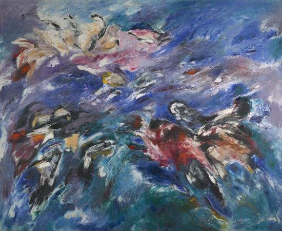 索尼娅·戈什托夫,《起源》(The Beginning,1960)。    图片:Denver Art Museum: Vance H。 Kirkland Acquisition Fund, 2015.62。 ? Sonia Gechtoff