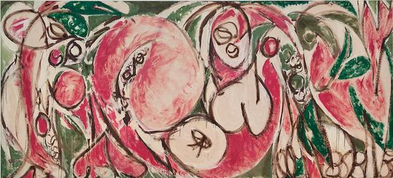 里·克拉斯纳,《季节》(The Seasons ,1957)。    图片:Whitney Museum of American Art, New York    摄影:Sheldan C。 Collins。 ? 2015 Pollock-Krasner Foundation/Artists Rights Society (ARS), New York
