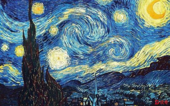 梵高 《星空》 纽约现代艺术博物馆藏