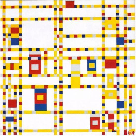 蒙德里安 《百老汇爵士乐》纽约现代艺术博物馆藏
