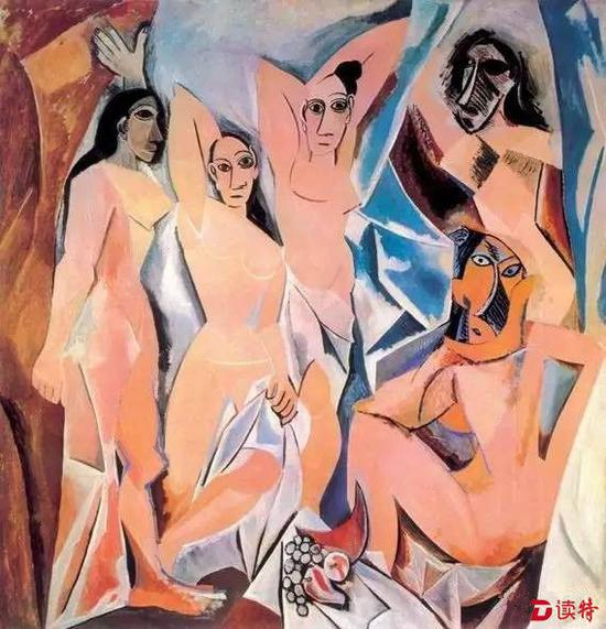 毕加索 《亚威农的少女》纽约现代艺术博物馆藏