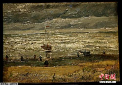 资料图:1882年《斯海弗宁恩的海景》及1884年的《离开尼厄嫩教堂》,是梵高成为画家关键发展时期的2幅画作。