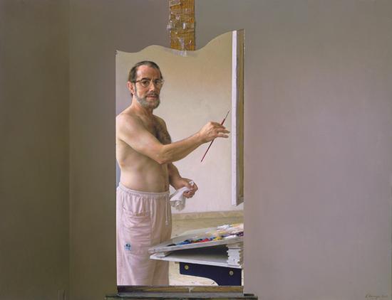 (《自画像》,布面油画,83X108cm,2003年作)