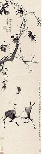 徐渭 《驴背吟诗图》