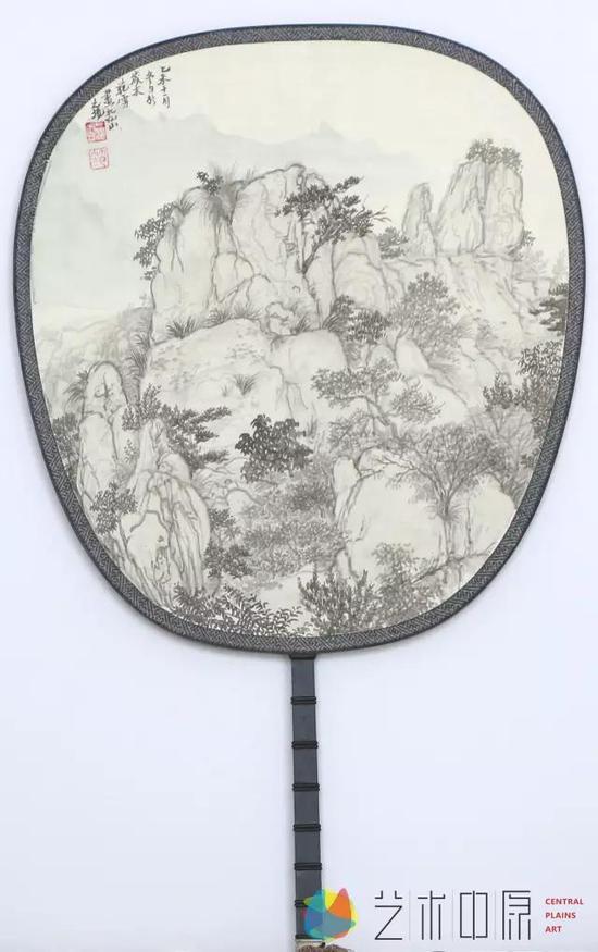《秀峰》宫扇系列33x33cm