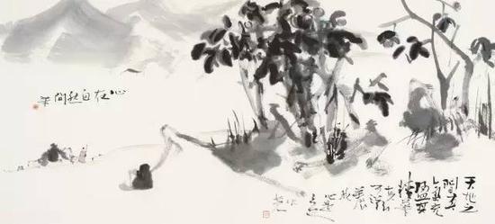 抽象水墨花鸟画