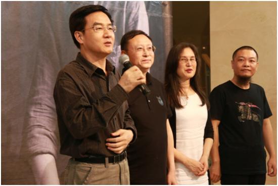 中共深圳市文联党组书记李瑞琦宣布书法展开幕