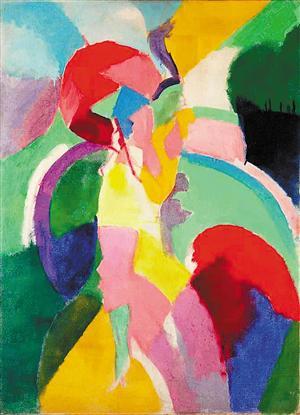 ▲葛丽泰·嘉宝收藏的罗伯特·德洛内作品《撑伞的女人》。