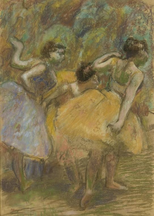 德加,《Dancers》(约 1900年)。图片:Courtesy of the Denver Art Museum/Memorial Art Gallery of the University of Rochester