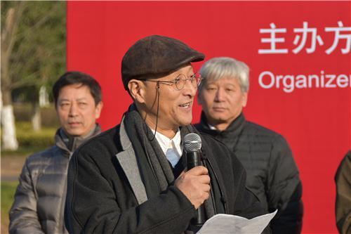 中国美术家协会副主席、中国雕塑学会会长、清华大学美术学院副院长 曾成钢在开幕式上发言