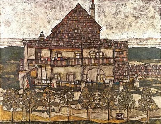 《老房子2》,席勒,1915