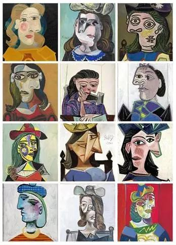 毕加索少部分同时期构图的作品