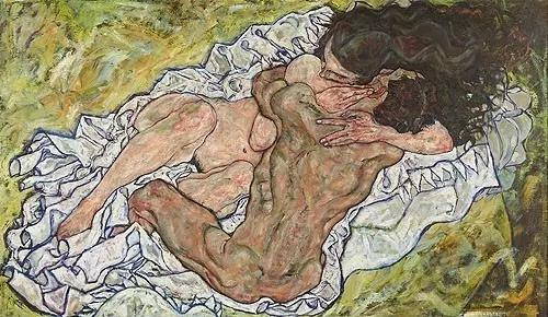 《拥抱》,席勒,1917