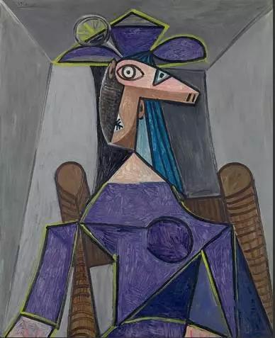 《女人肖像(多拉·玛尔)》,毕加索,在2014年佳士得纽约上以2256万美金成交