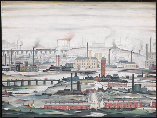 洛利笔下的曼彻斯特《Industrial Landscape》