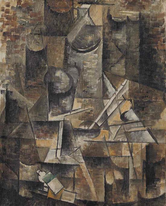 乔治・布拉克(1882-1963)《独脚小圆桌》 估价:400万 ― 600万美元  成交价:1010.3万美元