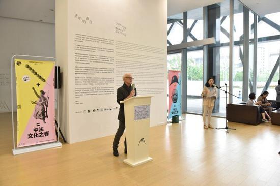 """""""透明的声音""""策展人James Giroudon。图片:致谢上海民生现代美术馆"""