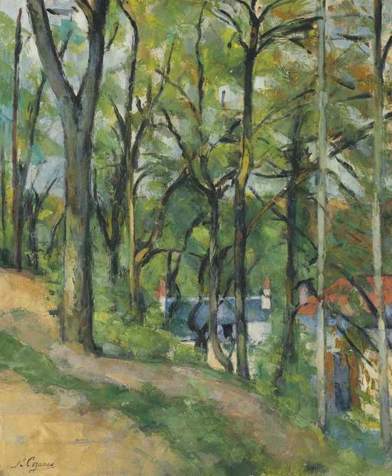 保罗・塞尚(1839-1906)《蓬图瓦兹的圣丹尼斯海岸》  估价:500万 ― 700万美元  成交价: 864.75万美元