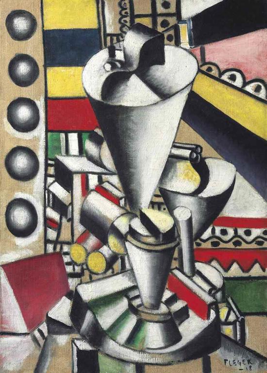 费尔南德・莱热(1881-1955)《静物:机械构件》估价:1000万 ― 1500万美元  成交价: 1144.75万美元