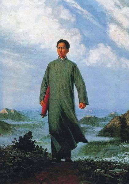 """刘春华1967年画的《毛主席去安源》,这张作品单张彩色印刷数量累计达9亿多张,被认为是""""世界上印数最多的一张油画""""。"""