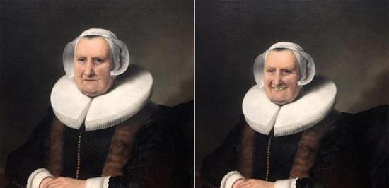 """近日,一组P图照片在网上疯传,画面中的人物原本忧郁,但在P图后都挂上了""""灿烂的微笑"""",一时间引起网友的P图热潮。"""