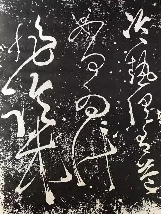 张旭《肚痛帖》2,宋代刻石笔画粘接,连绵不断