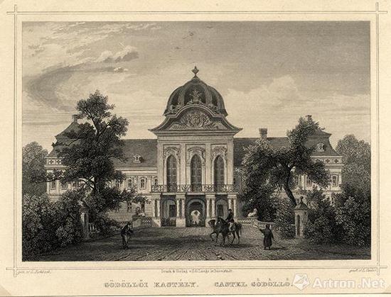 格德勒堡路德维希·罗博克(1820-1883)    19世纪中期 钢凸版画    14.6厘米×19.7厘米    匈牙利国家博物馆藏