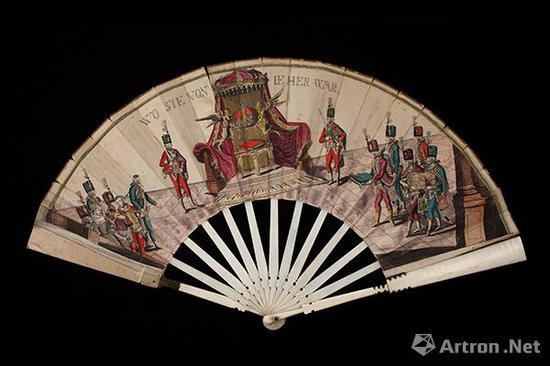 扇子(为纪念1790年王冠回归仪式所作) 1790年 纸 直径:48厘米    匈牙利国家博物馆藏