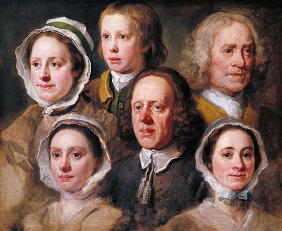 威廉·霍加斯,霍加斯的六个仆人画像,1750-55