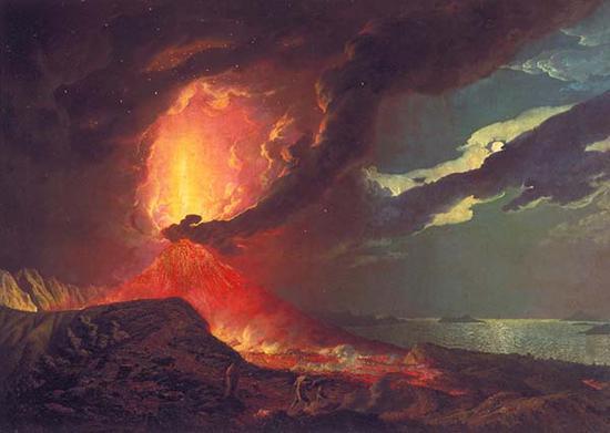 约瑟夫·赖特,维苏威火山爆发,1776-80