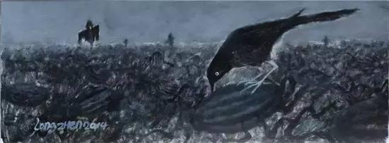 西瓜田的乌鸦