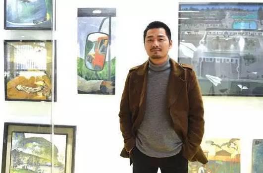 """孔龙震在""""康纳国际艺术展""""上"""