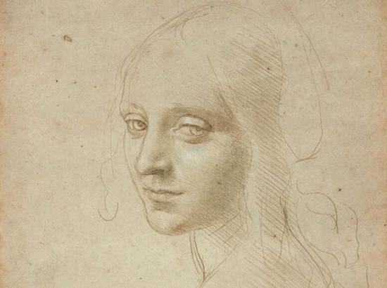 达-芬奇 Da Vinci - Head of a Young Woman (Study for the Angel in the 'Virgin of the Rocks')
