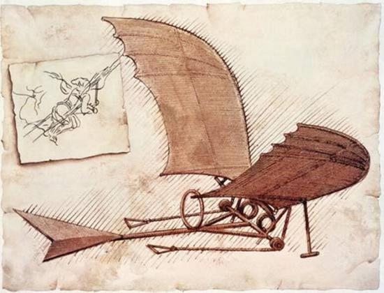 达·芬奇设计的滑翔机