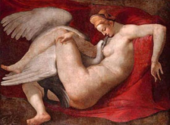 米开朗基罗 Michelangelo - 丽达与天鹅