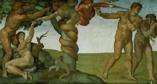 米开朗基罗 Michelangelo - 原罪和逐出伊甸园